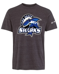 Long Beach Sharks CCM Tri-Blend T-Shirt