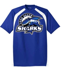 Long Beach Sharks Sport Tek Dry Fit T-Shirt